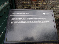 Nightwatchman's Hut Sign