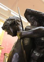 Detail of late c19th bronze, Walker Art Gallery, Liverpool