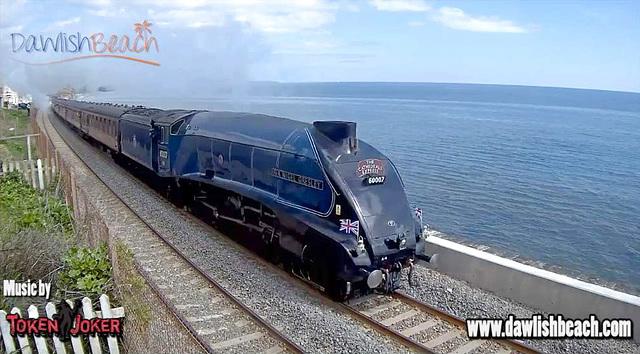 60007 - Sir Nigel Gresley, Dawlish webcam