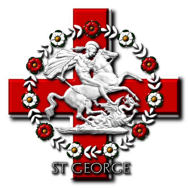 St George of England - © Copyright Peter Crawford 2014