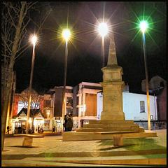 Bonn Square searchlights