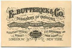 E. Butterick & Co., Designers of Fashions