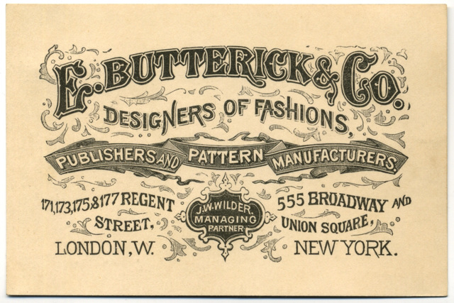 E. Butterick & Co., Designers of Fashions