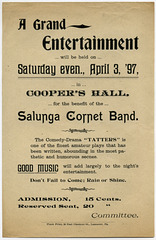 A Grand Entertainment for the Benefit of the Salunga Cornet Band, April 3, 1897