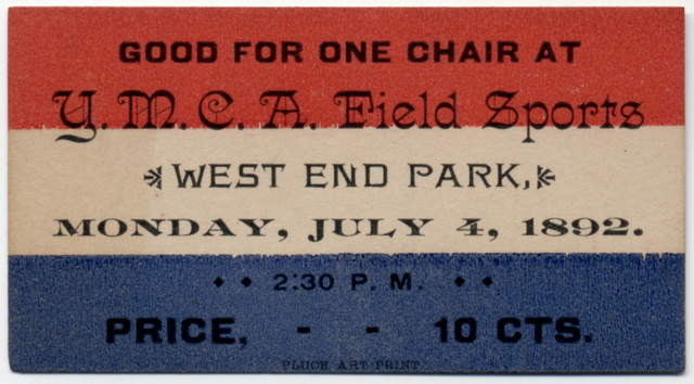 Good for One Chair at YMCA Field Sports, West End Park, Lancaster, Pa., July 4, 1892