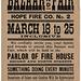 Hope Fire Co. No. 2 Bazaar and Fair