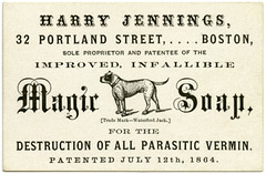Harry Jennings, Magic Soap, Boston, Mass., 1864