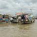 Hausboote auf dem Mekong