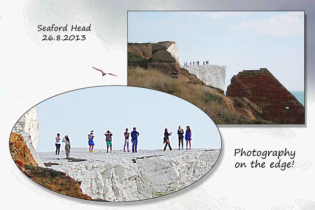 Photography on the edge - Seaford Head - 26.8.2013