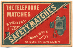 The Telephone Matches Special Safety Matches