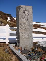 Ernest Shackleton's grave, South Georgia