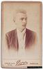 Young man by Papp Albert, Debreczen (recto)