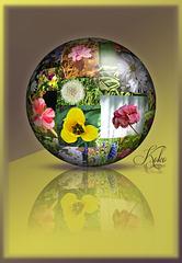 Spring Flower Globe
