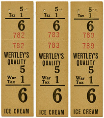 Wertley's Quality Ice Cream Price Tags