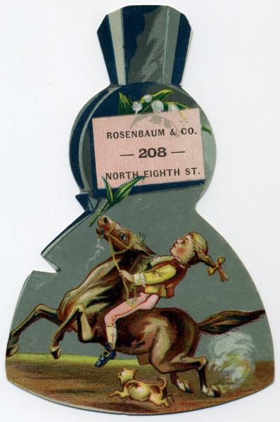 Axe Head Trade Card, Rosenbaum and Company, Philadelphia, Pa.