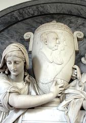 Detail of Henniker Memorial (by Joseph Kendrick) St Mary's Church, Thornham Magna, Suffolk