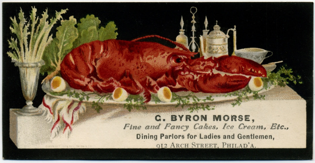 C. Byron Morse, Fine and Fancy Cakes, Ice Cream, Etc., Philadelphia, Pa.
