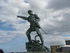 Statue de Surcouf à Saint Malo