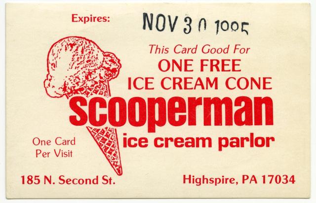 Scooperman Ice Cream Parlor, Highspire, Pa.