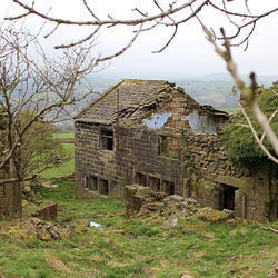 Abandoned Farmhouse, Height  Road, Wadsworth, Hebden Bridge, West Yorkshire