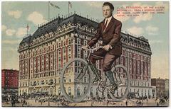 J. C. Ferguson Using a Morrow Coaster Brake at the Hotel Astor, New York