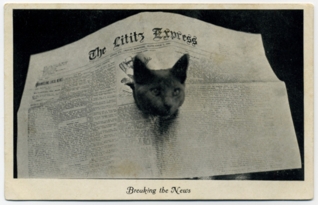Breaking the News, Lititz Express, July 4, 1907