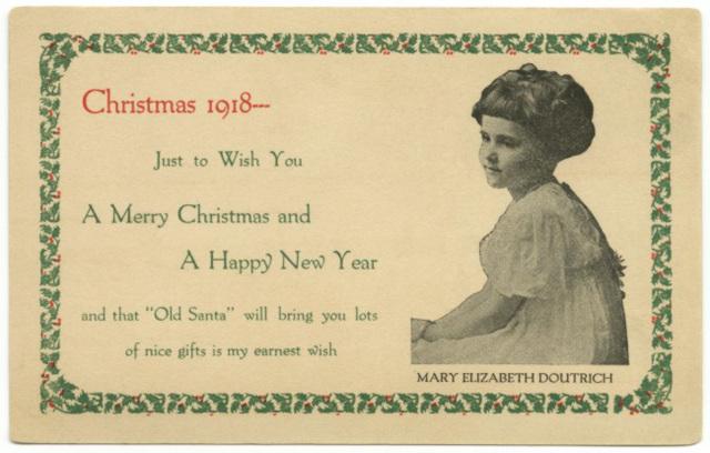 Mary Elizabeth Doutrich, Christmas 1918
