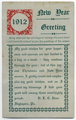 New Year Greeting, 1912