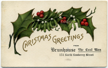 Christmas Greetings from Brunhouse the Coal Man