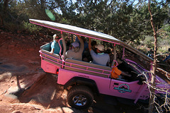 0501 154122 Pink Jeep in Coconino National Forest