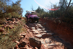 0501 153849 Pink Jeep in Coconino National Forest