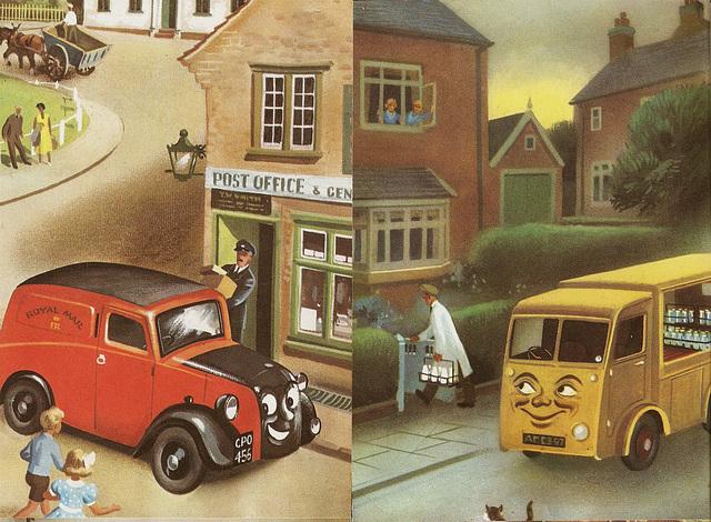 Mickey the Mail Van & Minnie the Milk Float.