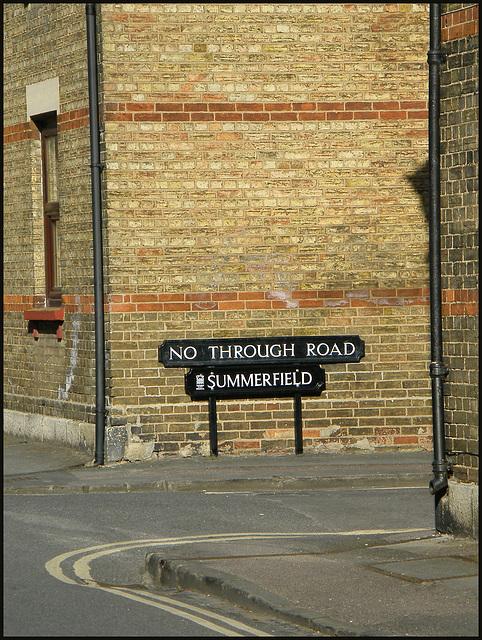 Summerfield street sign