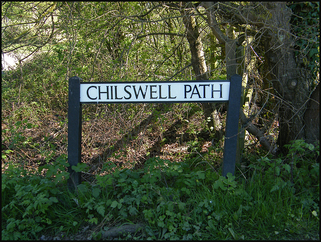 Chilswell Path sign