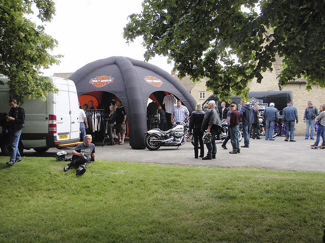 Harley Davidson stand