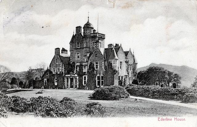 Ederline House, Argyll and Bute, Scotland (Demolished)