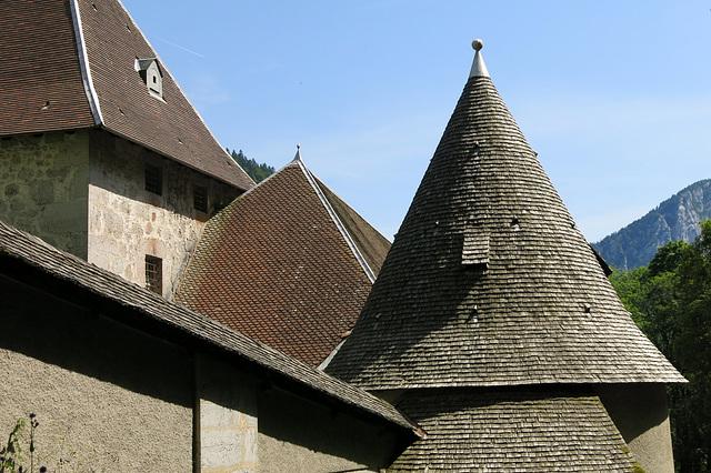 Tuiles et tavaillons (Monastère de la Grande Chartreuse)