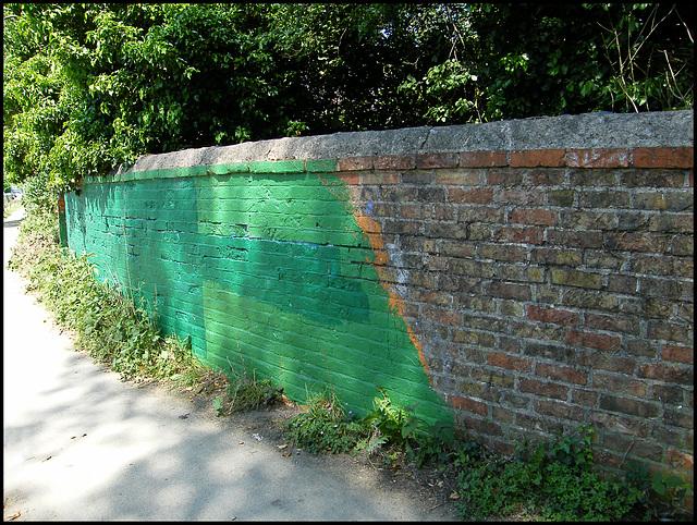 green paint desecration
