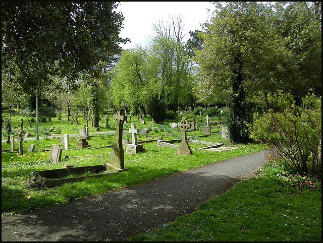 Cowley churchyard tidied up