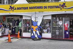 Souvenir Booth – Jazz Festival, Saint Catherine Street at Jeanne-Mance, Montréal, Québec