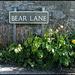 Bear Lane street sign
