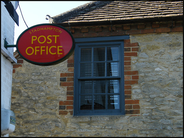 Stadhampton Post Office sign