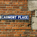 Beaumont Place street sign