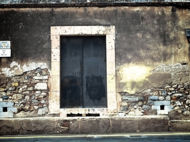 door and wall