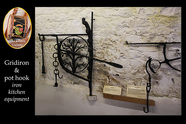 Iron kitchen equipment - Lewes Gallery  - Anne of Cleves House - Lewes - 23.7. 2014