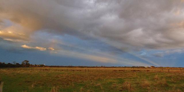 sunset near Yarram