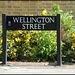 Wellington Street sign