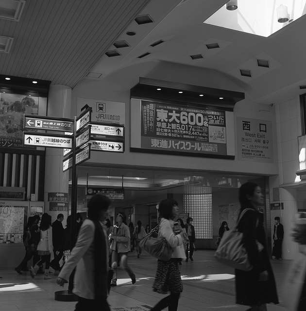 Passenger traffic in Kawagoe station