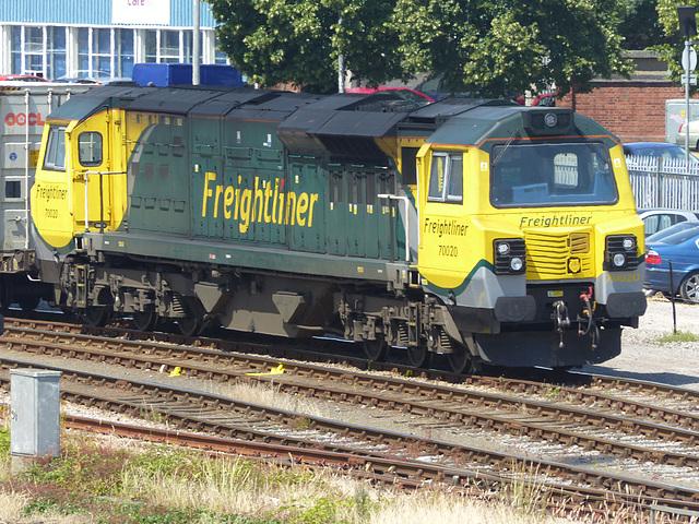 70020 at Millbrook (2) - 2 July 2014