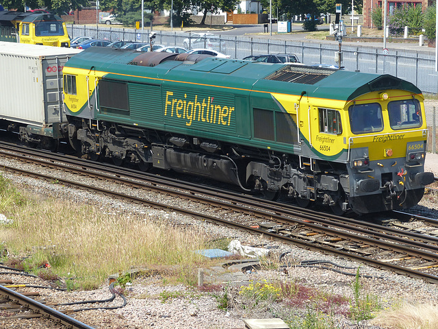 66504 passing Millbrook - 2 July 2014